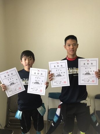 五十嵐陽(いがらしはる)選手と黒澤葵(くろさわあおい)選手