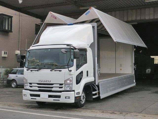 いすゞ 中型 アルミウィング/幌ウィング TKG-FRR90S2