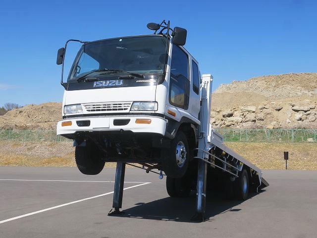 平成7年式 いすゞ フォワード 中型 セルフローダー ウィンチ付 ハイジャッキ 自動歩み装備 メーター実走行約25.4万㎞!