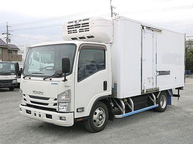 平成28年式 いすゞ エルフ 3t冷凍バン ハイブリット車 ワイドロング 全低床 東プレ製-30度設定 左サイド扉付 【準中型免許対応 ※準中型免許以上】