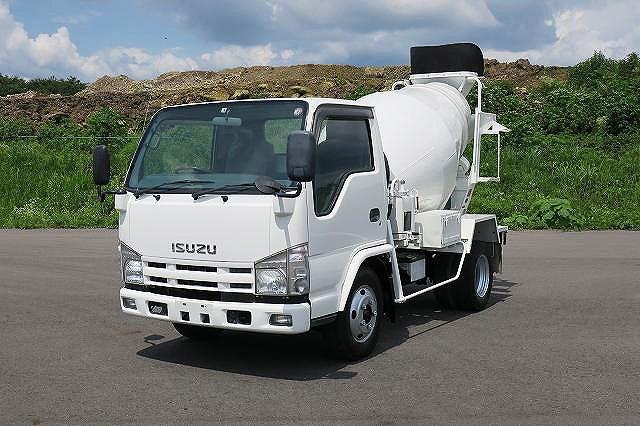 平成20年式 いすゞ エルフ 小型コンクリートミキサー車 カヤバ工業製 ドラム容量2.5m3 【準中型免許対応 ※5t限定を除く】