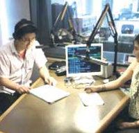 ラジオCM放送の様子