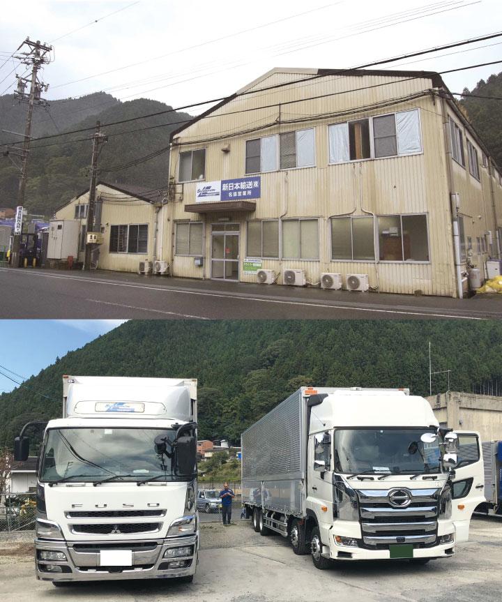 新日本輸送株式会社外観と使用車両