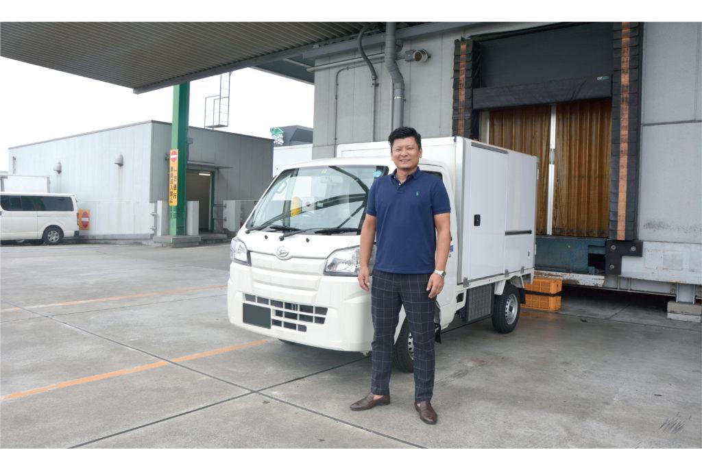 清水 貴之 氏とトラック