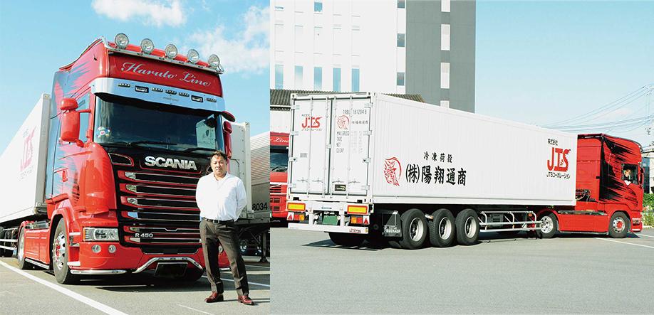 代表取締役 山本 哲男 氏とトラック
