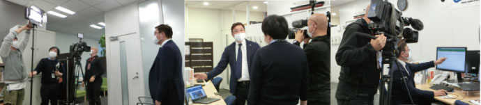 NHKの取材の様子